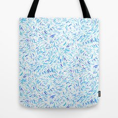 Dashed Waves Tote Bag