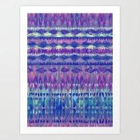 Ikat #8f Art Print