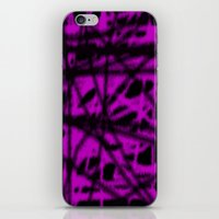 pink and black wire iPhone & iPod Skin