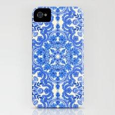 Cobalt Blue & China Whit… iPhone (4, 4s) Slim Case