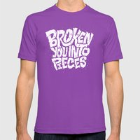 Broken You Into Pieces Mens Fitted Tee Ultraviolet SMALL