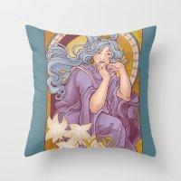 Chronos II Nouveau Throw Pillow