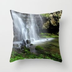 Waterfall at Swallet Falls Throw Pillow