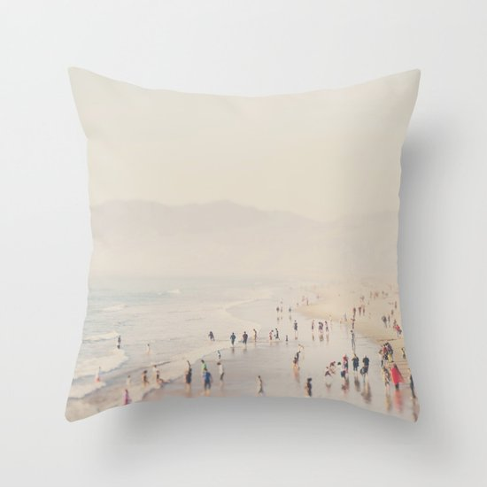 standing on the edge of the world ...  Throw Pillow