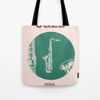 Jazz Relax And Play Sax Tote Bag