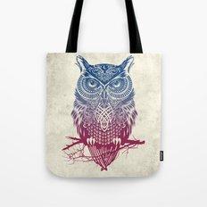 Evening Warrior Owl Tote Bag