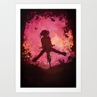 Chasing The Wind (pink) Art Print