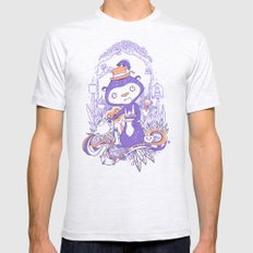 Tea Monkey Tea Party Mens Fitted Tee Ash Grey SMALL