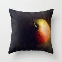 Pear Romance Throw Pillow