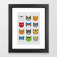 Super Cats Framed Art Print