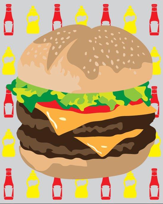 Double Cheeseburger Art Print
