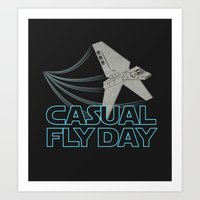 Casual Fly Day Art Print