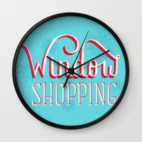 Window Shopping Wall Clock