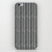 Herringbone Black Invers… iPhone & iPod Skin
