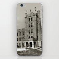 Northern Illinois University Castle - Black and White iPhone & iPod Skin