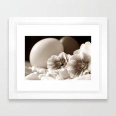 OSTERN - SEPIA Framed Art Print
