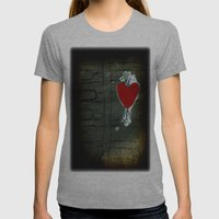 Love Malfunction Womens Fitted Tee Athletic Grey SMALL