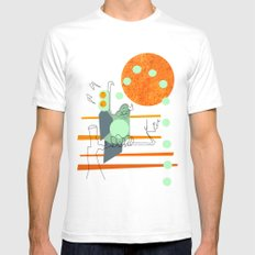 Owl Pellets Mens Fitted Tee SMALL White