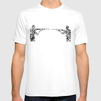 Gun fight Mens Fitted Tee White SMALL