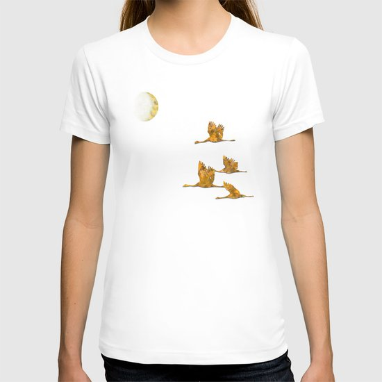 Moon-lit Flight (landscape) T-shirt