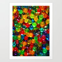 Color Balls Art Print