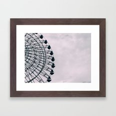 Kobe Ferris Wheel Framed Art Print