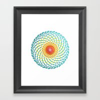 Radial Framed Art Print