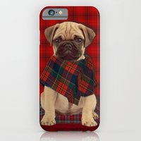 iPhone & iPod Case featuring The Plaid Poncho'ed Pug by C...