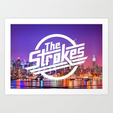 The Strokes Logo New York Night Art Print