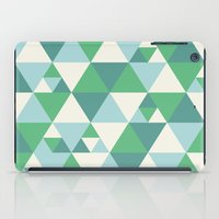 Green Triangles iPad Case