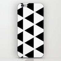 Sleyer Black On White Pa… iPhone & iPod Skin