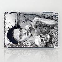 Skull Girl Nouveau iPad Case