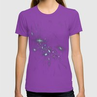 Starburst Womens Fitted Tee Ultraviolet SMALL