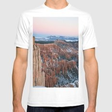 Bryce Canyon Sunrise White SMALL Mens Fitted Tee