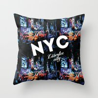NEW-YORK (LIBERTEE CITY) Throw Pillow