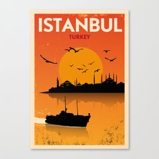Vintage Istanbul Poster Canvas Print
