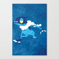 Frogadier Canvas Print