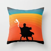 The illusive man Throw Pillow