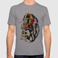 Mandril Mens Fitted Tee Athletic Grey SMALL