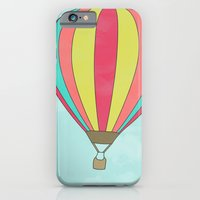 iPhone & iPod Case featuring IT'S TIME TO EXPLORE- HOT AIR BALLOON by Allyson Johnson