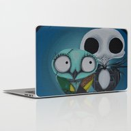 Laptop & iPad Skin featuring The Owl Jack And Sally by Annelies202