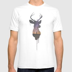 Deer Head V Mens Fitted Tee White SMALL