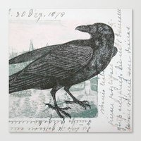 Raven of Marburg - Square Canvas Print