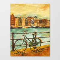 Going Dutch (yellow) Canvas Print