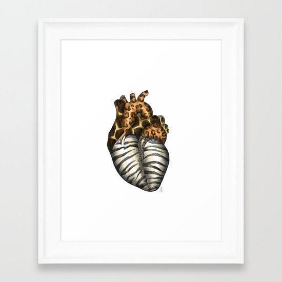 Heart gone wild - color  Framed Art Print