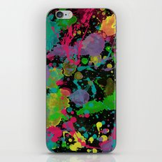 Paint Splatter on Black Background iPhone & iPod Skin