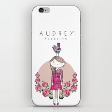 Audrey siri IV iPhone & iPod Skin