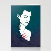 teen wolf Stationery Cards featuring Teen Wolf Stiles Stilinski by neonico