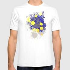 Gold and Blue Harmony Mens Fitted Tee White SMALL