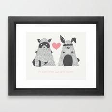Partner in Crime Framed Art Print